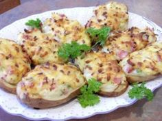 Weight Watchers Potatoes Stuffed with Ham and Gruyere Cheese Recipe