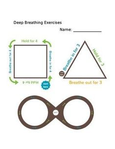 Deep Breathing Activities by Counselor of the Desert | TpT Mindfulness At Work, Tracing Shapes, Deep Breathing Exercises, Coping Skills, Finger, Teacher Pay Teachers, Teacher Newsletter, Activities