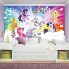 Create-a Scene With My Little Pony Cloud XL Wall Mural
