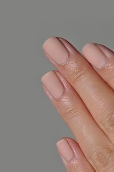 Matte blush pink nails.