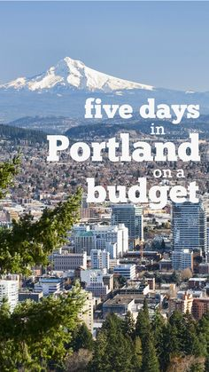 How to spend five days with your family in Portland on a budget!