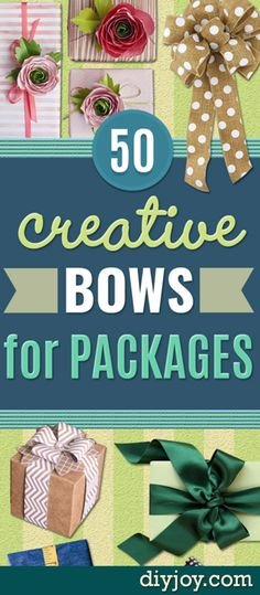 How to Make Bows for Packages - DIY Christmas Gift Wrapping Ideas