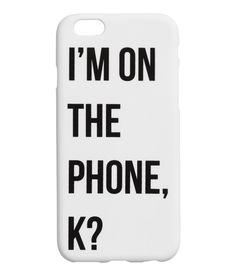 Check this out! Smartphonecover i plast med tryk. Passer til iPhone. – Gå ind på hm.com for at se mere.