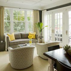 Yellow and Gray Living Room