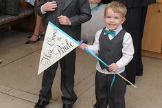 Custom Sign for Weddings - Large Pennant Flag Wedding Sign - Aisle Alternative on Etsy, $48.00