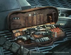 Card artwork for the game Star Wars - Imperial Assault. Ffg Star Wars, Star Wars Rpg, Star Wars Clone Wars, Blaster Star Wars, Star Wars Imperial Assault, Star Wars Guns, Edge Of The Empire, Star Wars Concept Art, Star Wars Droids