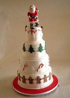 A towering Christmas cake for Santa to see who's been bad and who's been good.
