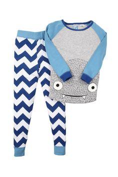 boys ls monster pj pajamas | Cotton On