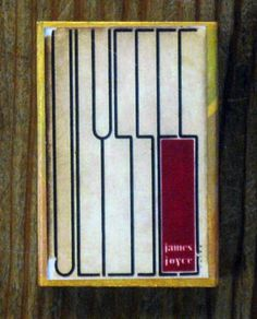 Photo: C. Aubry  Vintage Ulysses book cover design, reprinted for a matchbox