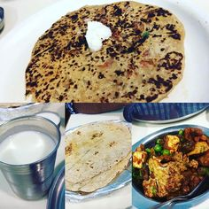 Simple brunch of parathas today!