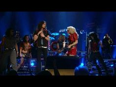 Rock of Ages at the 2009 Tony Awards.  So loved this show.  Saw it twice in NYC and once in DC.