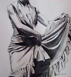 """MOMENTOS"": Bailaora flamenca Ideas Para, Watercolor Art, Postcards, Journal, Tattoo, Deco, Drawings, Painting, Home"