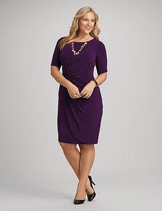 Old Navy Plus Size Faux Wrap Dress - StyleJutt.com. #OldNavy, #PlusSizeClothing, #Womenssfashion,   #PlusSizedresses, #plussize