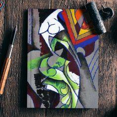 Contemporary Modern Art Notebook | Artist : Rupam Shah