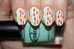 CONFETTICELEBRATION nail art!Click the photo to see the full tutorial from polish you pretty!