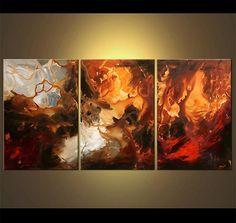 Gran pintura abstracta contemporánea Original por OsnatFineArt