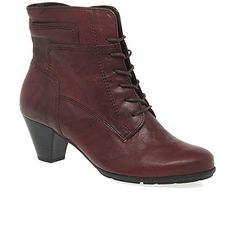 12318b08e62fac Gabor Dark red  National  Ladies Ankle Boots
