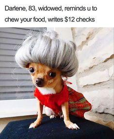 Hey Darlene, reminds u to chew your food.