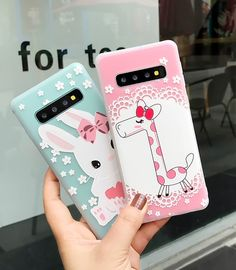 Girls Phone Cases Covers Cute Cartoon Rabbit Bunny, Giraffe Illustration Silicone TPU Galaxy S10, Galaxy S10 Plus, Galaxy S10e, Galaxy S9, Galaxy S9 Plus, Galaxy Note 9, Galaxy Note 8, | | Casefanatic