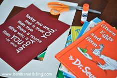 Dr. Seuss Room: Free Printable and Book Page Collage Frame