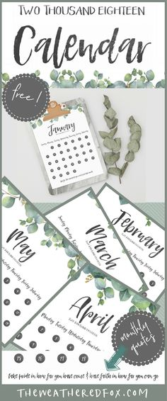 Free Printable Calendar for 2018. Simple farmhouse style design and inspirational quotes each month. Add it to a clipboard or pop it into a binder Entryway Wall Decor, Diy Wall Decor, Free Printable Calendar, Free Printables, Kate Spade Planner, School Calendar, Farmhouse Style, Farmhouse Plans, Farmhouse Decor