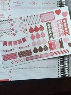 Valentines day sticker set for  Erin Condren Life Planner, Plum Paper Planner, Filofax