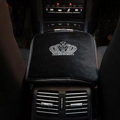 Black Velvet  Bling Crown Car Center Console Decor - Carsoda - 1