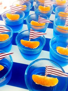 Style Planner nautical party food - jelly boats