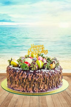 Looking for a unique cake that will suit your SUMMER party? This cake might be the one for you. Don't forget to be more expressive, pick a topper of your choice. Unique Cakes, Creative Cakes, Super Cool Cakes, Hide Money, Cake Kit, Money Cake, Happy Birthday Cake Topper, Surprise Box, Amazing Cakes