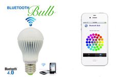 bluetooth bulb, with app to change brightness and colour