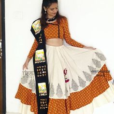 This Navratri buy our ready to wear chaniya choli. To place order whatsapp us on our number Navratri Collection 2018 Choli Designs, Blouse Designs, Designer Gowns, Indian Designer Wear, Dandiya Dress, Navratri Dress, Navratri Festival, Ghaghra Choli, Navratri Special