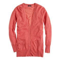 Classic merino long cardigan - sweaters - Women's new arrivals - J.Crew
