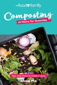 Learn how to compost at home with helpful tips from My Food and Family. Explore ways to avoid food waste and help the environment. Tap the Pin to read more. Vegetable Garden Design, Veg Garden, Garden Beds, Lawn And Garden, Composting At Home, Garden Compost, Victory Garden, Food Waste, Growing Vegetables