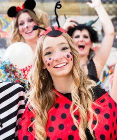 So schminken Sie sich als Marienkäfer in weniger als 10 Minuten! #fasching #carnival #party