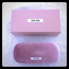 Brand New Miu Miu eyeglasses case ! Brand New Miu Miu eyeglasses case with microfiber cloth and shoe box!❤️ make an offer ! Miu Miu Accessories Glasses