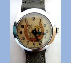 Vintage Child's ORIGINAL DALE EVANS CHARACTER WRIST WATCH.   1950's Indian Project, Children's Watches, Dale Evans, Vintage Children, Digital Watch, Vintage Toys, Omega Watch, Fingers, Clocks