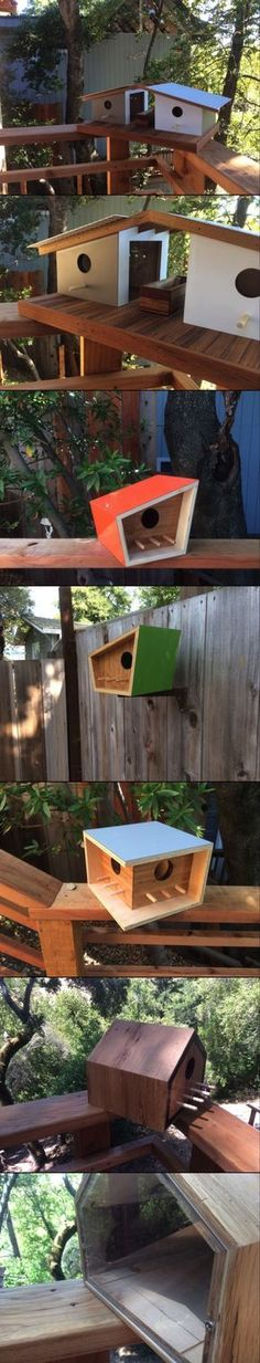 BIRDHOUSES THAT ARE COOLER THAN YOUR OWN HOUSE #WoodworkingPlansMidCentury