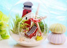 Lighthouse Beach Vacation Terrarium  Glass by BeachCottageBoutique, $29.95