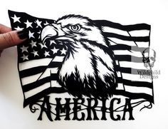 American Flag Paper Cutting Template for Personal or Commercial Use Papercut Cut Eagle America USA Stars and Stripes Old Glory Star Graduation Templates, Business Stationary, Paper Cutting Templates, Star Stencil, Stencils, American Flag Stars, Old Glory, Looking Stunning, Vinyl