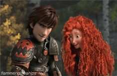 Mericcup Disney Ships, Disney Art, Jelsa, Disney And Dreamworks, Disney Pixar, Modern Merida, Merida And Hiccup, Disney Hogwarts, Disney Theory