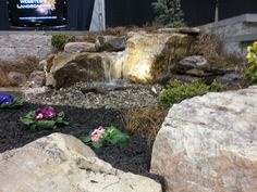 Pondless Water Feature at Home and Garden Show by Webster's Landscaping, LLC. www.facebook.com/websterslandscaping  Certified Aquascape Contractor (CAC) Webster's Landscaping is a full service landscape company that offers landscaping, planting, shrub bed maintenance, landscape maintenance, water features, ponds, pondless water features, hardscaping, patios, retaining walls, natural stone work and masonry. We are located in York County, PA, York, PA, based in Dallastown Pa.