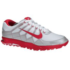 Nike Mens Closeout Air Range WP II Golf Shoes Wolf White Neutral Gray Hyper 425be9bde