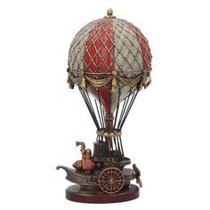 Steampunk Hot Air Balloon Sculpture Home Decor Statue Figurine Figure veron Casa Steampunk, Steampunk Home Decor, Steampunk Airship, Style Steampunk, Steampunk Wedding, Dieselpunk, Steampunk Fashion, Steampunk Kitchen, Steampunk Images
