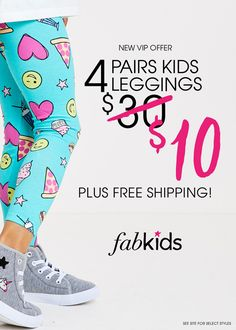 Shop the best Back to School Styles from head-to-toe at Fabkids.com! New VIP Offer: 4 Pairs of Leggings for $10!
