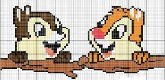 Chip & Dale perler bead pattern