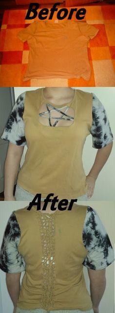 DIY upcycled T-shirt  pentagram
