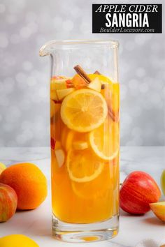 Delicious Apple Cider Sangria has all the flavors of fall with fresh fruit, white wine, rum and spices. Topped off with ginger beer for fizz. Perfect for fall gatherings and Thanksgiving celebrating! Best Cocktail Recipes, Sangria Recipes, Punch Recipes, Apple Cider Sangria, Homemade Apple Cider, Apple Brandy, Spiced Rum, Ginger Beer, Fun Cocktails