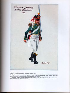 Imperial Guard: Plate 34: Flankers-Grenadiers Regiment, Private, 1812.