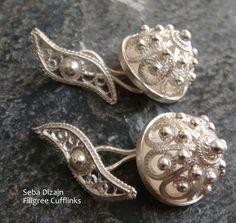 Handmade Silver Filigree Cufflinks - 'worth getting married for' - Bryce New, Sydney Australia.
