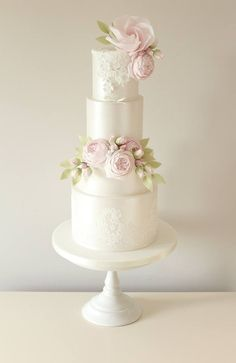 Based in Gateshead in the North East of England, The Designer Cake Company specialises in creating beautiful bespoke wedding cakes. Wedding Cake Designs, Wedding Cake Toppers, Fondant Wedding Cakes, Beautiful Wedding Cakes, Beautiful Cakes, Wedding Cake Fresh Flowers, Acrylic Cake Topper, Wedding Sweets, Sugar Cake